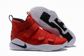 Wholesale Cheap Nike Lebron James Soldier 11 Shoes Red White Black