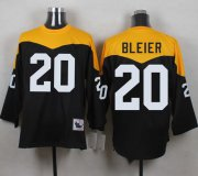 Wholesale Cheap Mitchell And Ness 1967 Steelers #20 Rocky Bleier Black/Yelllow Throwback Men's Stitched NFL Jersey