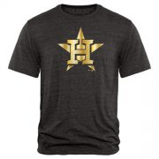 Wholesale Cheap Houston Astros Fanatics Apparel Gold Collection Tri-Blend T-Shirt Black