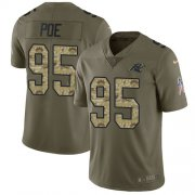 Wholesale Cheap Nike Panthers #95 Dontari Poe Olive/Camo Youth Stitched NFL Limited 2017 Salute to Service Jersey