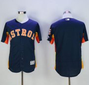 Wholesale Astros Blank Navy Blue Flexbase Authentic Collection Stitched Baseball Jersey