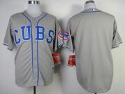 Wholesale Cubs Blank Grey Alternate Road Cool Base Stitched Baseball Jersey
