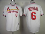 Wholesale Cheap Cardinals #6 Stan Musial White 1982 Turn Back The Clock Stitched MLB Jersey