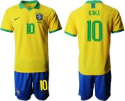 Wholesale Cheap Brazil #10 Kaka Home Soccer Country Jersey