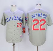 Wholesale Cheap Cubs #22 Jason Heyward Grey Road Cool Base Stitched MLB Jersey