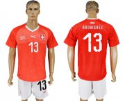 Wholesale Cheap Switzerland #13 Rodriguez Red Home Soccer Country Jersey