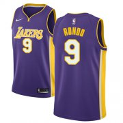 Wholesale Cheap Women's Nike Los Angeles Lakers #9 Rajon Rondo Purple NBA Swingman Statement Edition Jersey