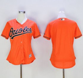 Wholesale Cheap Orioles Blank Orange Women\'s Alternate Stitched MLB Jersey
