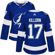 Wholesale Cheap Adidas Lightning #17 Alex Killorn Blue Home Authentic Women's Stitched NHL Jersey