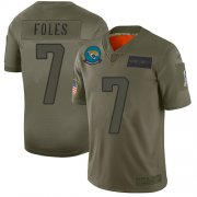 Wholesale Cheap Nike Jaguars #7 Nick Foles Camo Men's Stitched NFL Limited 2019 Salute To Service Jersey