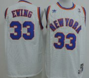 Wholesale Cheap New York Knicks #33 Patrick Ewing White Swingman Throwback Jersey
