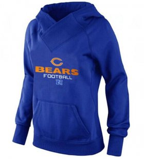 Wholesale Cheap Women\'s Chicago Bears Big & Tall Critical Victory Pullover Hoodie Blue