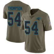 Wholesale Cheap Nike Panthers #54 Shaq Thompson Olive Men's Stitched NFL Limited 2017 Salute To Service Jersey