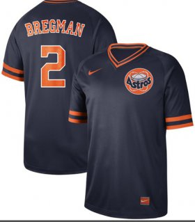Wholesale Cheap Nike Astros #2 Alex Bregman Navy Authentic Cooperstown Collection Stitched MLB Jersey