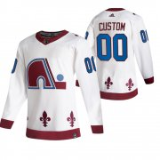 Wholesale Cheap Colorado Avalanche Custom White Men's Adidas 2020-21 Alternate Authentic Player NHL Jersey