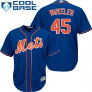 Wholesale Cheap Mets #45 Zack Wheeler Blue Cool Base Stitched Youth MLB Jersey