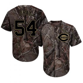 Wholesale Cheap Reds #54 Sonny Gray Camo Realtree Collection Cool Base Stitched MLB Jersey