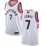 Wholesale Cheap Raptors #7 Kyle Lowry White Association Edition 2019 Finals Bound Basketball Swingman Jersey