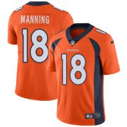 Wholesale Cheap Nike Broncos #18 Peyton Manning Orange Team Color Youth Stitched NFL Vapor Untouchable Limited Jersey