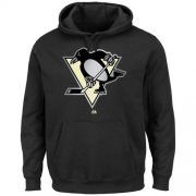 Wholesale Cheap Pittsburgh Penguins Majestic Game Reflex Pullover Hoodie Black