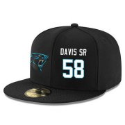 Wholesale Cheap Carolina Panthers #58 Thomas Davis Snapback Cap NFL Player Black with White Number Stitched Hat
