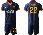 Wholesale Cheap Roma #22 Zaniolo Third Soccer Club Jersey