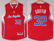 Wholesale Cheap Los Angeles Clippers #32 Blake Griffin Revolution 30 Swingman 2014 New Red Jersey