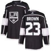 Wholesale Cheap Adidas Kings #23 Dustin Brown Black Home Authentic Stitched NHL Jersey