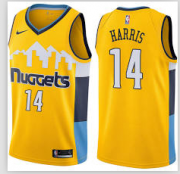 Wholesale Cheap Nike Denver Nuggets #14 Gary Harris Yellow NBA Swingman Statement Edition Jersey