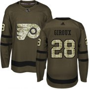 Wholesale Cheap Adidas Flyers #28 Claude Giroux Green Salute to Service Stitched Youth NHL Jersey