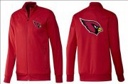 Wholesale Cheap NFL Arizona Cardinals Team Logo Jacket Red_1