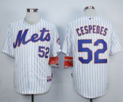 Wholesale Cheap Mets #52 Yoenis Cespedes White Home Cool Base Stitched MLB Jersey