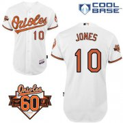 Wholesale Cheap Orioles #10 Adam Jones White Cool Base Stitched MLB Jersey
