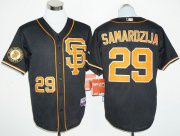 Wholesale Cheap Giants #29 Jeff Samardzija Black 2016 Cool Base Stitched MLB Jersey