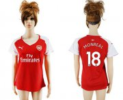 Wholesale Cheap Women's Arsenal #18 Monreal Home Soccer Club Jersey