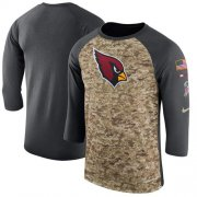 Wholesale Cheap Men's Arizona Cardinals Nike Camo Anthracite Salute to Service Sideline Legend Performance Three-Quarter Sleeve T-Shirt