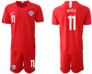 Wholesale Cheap Chile #11 Mora Home Soccer Country Jersey