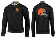 Wholesale Cheap NFL Cleveland Browns Team Logo Jacket Black