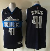 Wholesale Cheap Men's Dallas Mavericks #41 Dirk Nowitzki Revolution 30 Swingman The City Navy Blue Jersey