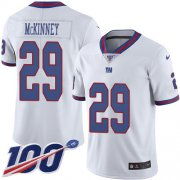 Wholesale Cheap Nike Giants #29 Xavier McKinney White Youth Stitched NFL Limited Rush 100th Season Jersey