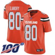 Wholesale Cheap Nike Browns #80 Jarvis Landry Orange Alternate Men's Stitched NFL 100th Season Vapor Limited Jersey