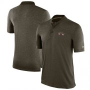 Wholesale Cheap Men's Arizona Cardinals Nike Olive Salute to Service Sideline Polo T-Shirt