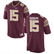 Wholesale Cheap Men's Florida State Seminoles #15 Travis Rudolph Red Stitched College Football 2016 Nike NCAA Jersey