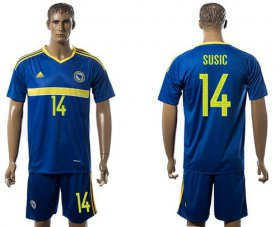 Wholesale Cheap Bosnia Herzegovina #14 Susic Home Soccer Country Jersey
