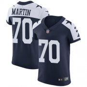 Wholesale Cheap Nike Cowboys #70 Zack Martin Navy Blue Thanksgiving Men's Stitched NFL Vapor Untouchable Throwback Elite Jersey