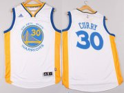 Wholesale Cheap Golden State Warriors #30 Stephen Curry Revolution 30 Swingman 2014 New White Jersey