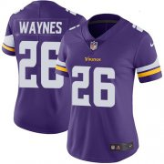 Wholesale Cheap Nike Vikings #26 Trae Waynes Purple Team Color Women's Stitched NFL Vapor Untouchable Limited Jersey