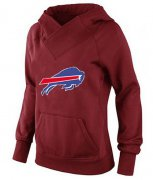 Wholesale Cheap Women's Buffalo Bills Logo Pullover Hoodie Red
