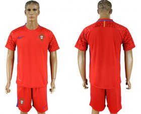 Wholesale Cheap Portugal Blank Red Goalkeeper Soccer Country Jersey