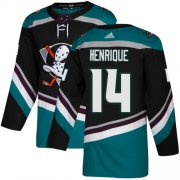 Wholesale Cheap Adidas Ducks #14 Adam Henrique Black/Teal Alternate Authentic Youth Stitched NHL Jersey